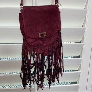 Express burgundy mini crossbody bag!